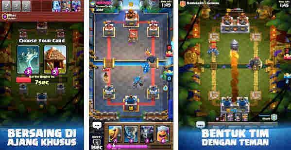 game Clash Royale strateri online terbaik di android