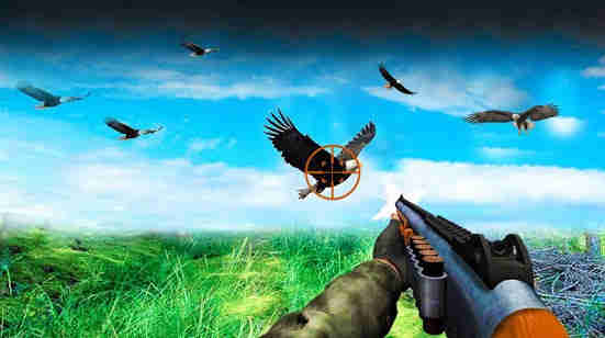 Flying Sniper Birds Hunting 3D