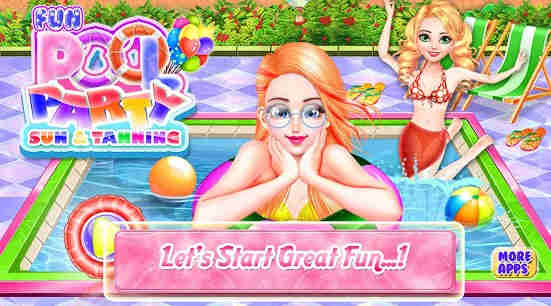 Fun Pool Party - Sun & Tanning in Swimming Pool