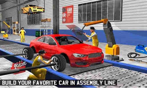 Olahraga Pembuat mobil Pabrik MMobil Montir Games