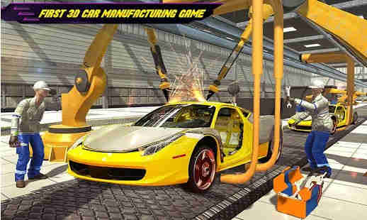 Pembuat Mobil Auto Mechanic Car Builder Games