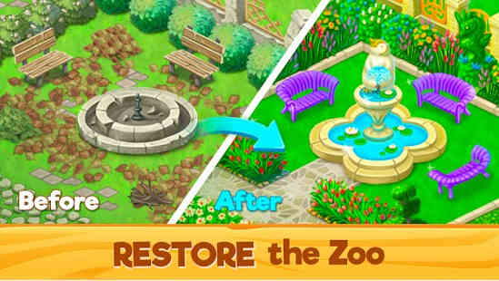 Zoo Rescue Match 3 & Animals
