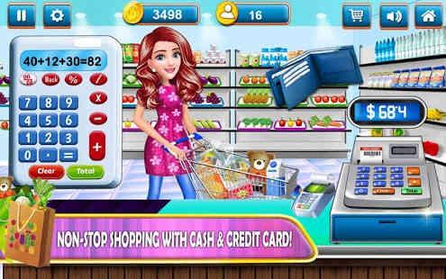 Supermarket Belanja Cash Register Permainan Kasir